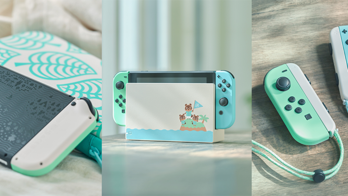 nintendo switch animal crossing edition console